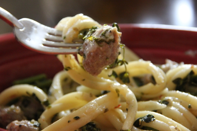 Substitution Magic: Pasta With Sausage & Broccolini
