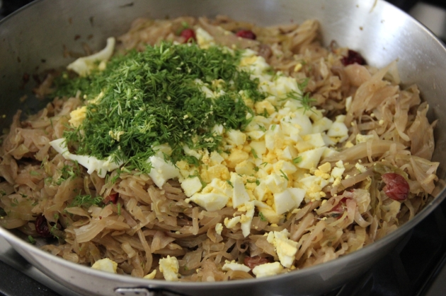 Sauerkraut & Hard-Boiled Egg Filling