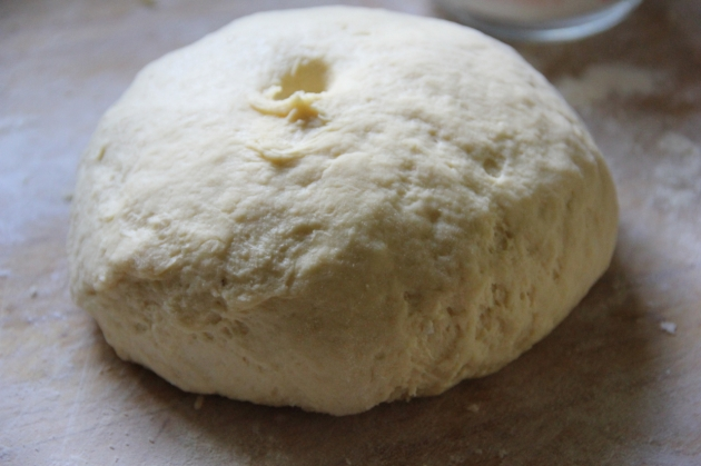 Making Russian Napoleon: the soft dough is ready