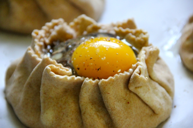 Mushroom Pie WIth Egg -- assembled