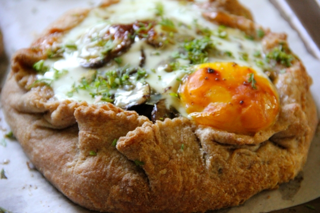 Mushroom Pie WIth Egg -- the only pie with egg intact