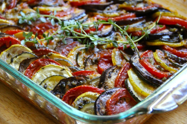 Confit Byaldi by Thomas Keller, also known as Ratatouille from Pixar's animated movie