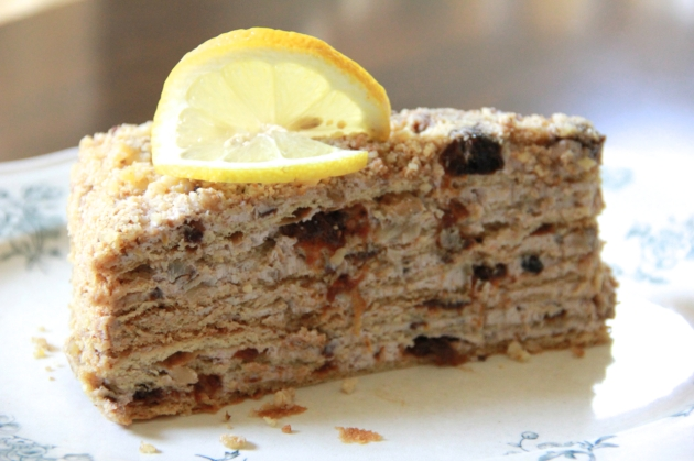 Honey Cake With Walnuts & Prunes