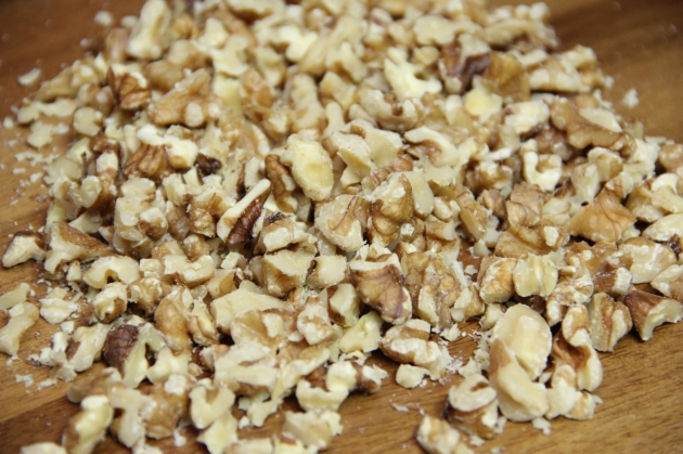Cheese Swirls: chopped walnuts
