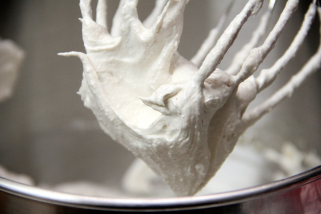 Cheese Swirls: whipped egg whites