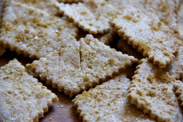 Rye Sourdough Crackers