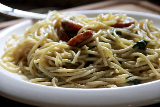 Sausage & Spinach Pasta Hack